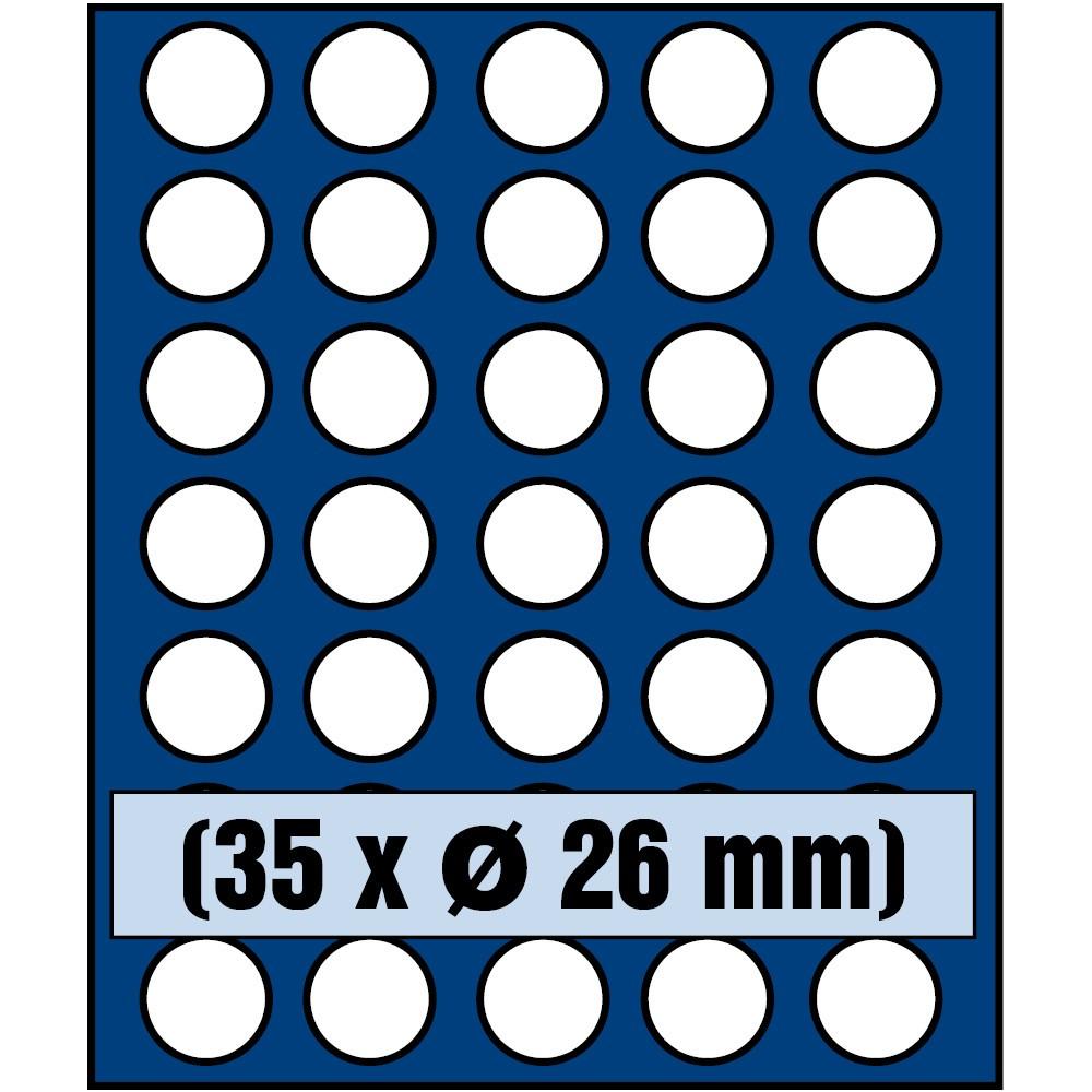 Paleta do kasety NOVA standard - dla monet do 26 mm średnicy