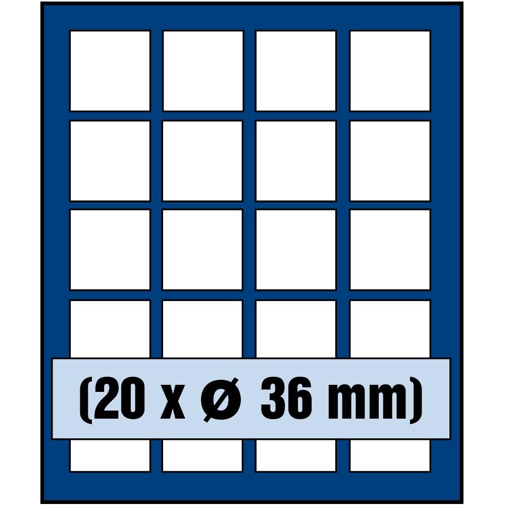 Paleta do kasety NOVA standard - dla monet do 36 mm średnicy