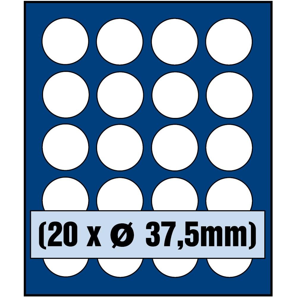 Paleta do kasety NOVA standard - dla monet do 37,5 mm średnicy