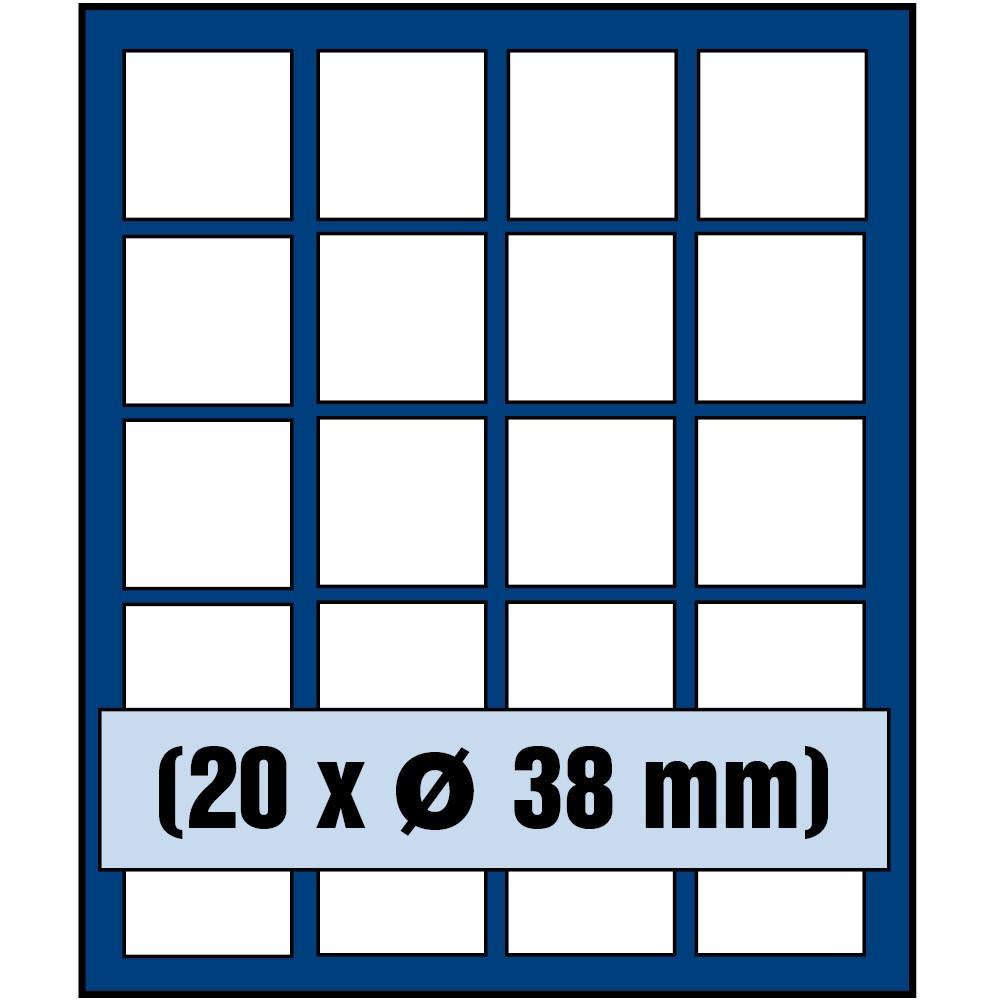 Paleta do kasety NOVA standard - dla monet do 38 mm średnicy