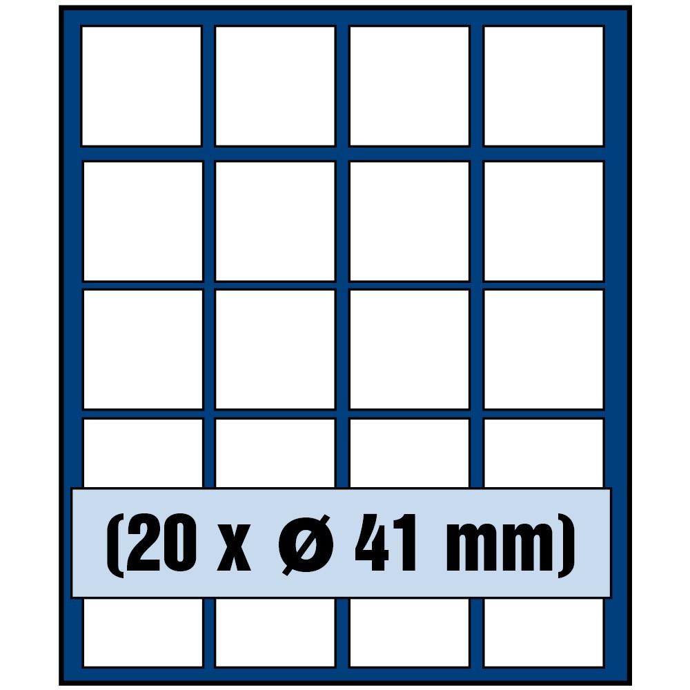 Paleta do kasety NOVA standard - dla monet do 41 mm średnicy