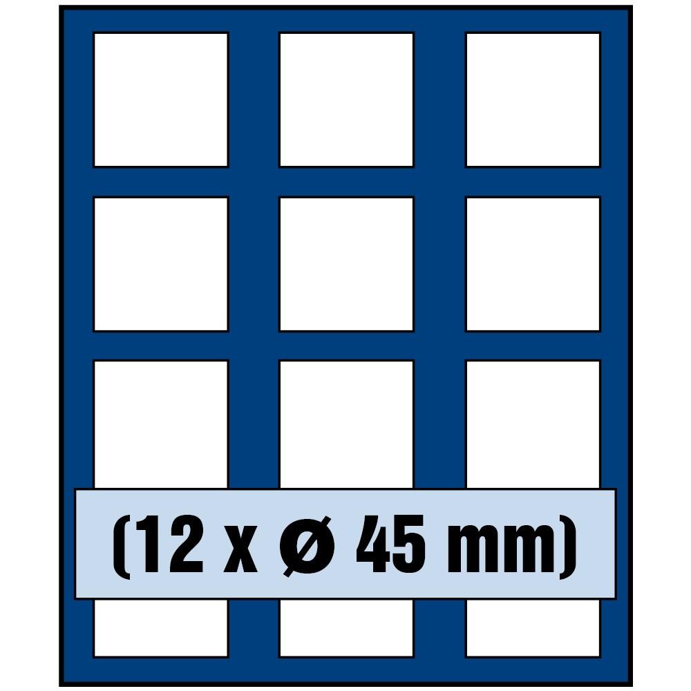 Paleta do kasety NOVA standard - dla monet do 45 mm średnicy