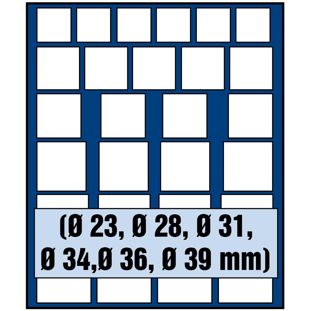 Paleta do kasety NOVA standard - dla monet o różnych średnicach