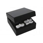 Szlachetne drewniane pudełko na monety w holderach