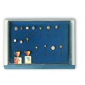 Elegancka czarna paleta (system wieżowy) -  z podziałami na medale, odznaki
