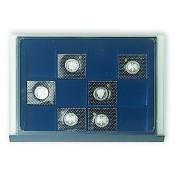 Elegancka czarna paleta (system wieżowy) - 12 podziałów o wymiarach: 64 x 71 mm