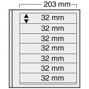 Siedmioczęściowy arkusz do segregatora Euro-system