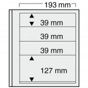 Czteroczęściowy arkusz do segregatora Euro-system