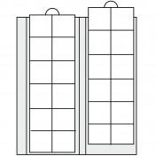 Arkusz uzupełniający do Albumu ArtLine - na 24 monety do 34 mm średnicy (zestaw 2 arkuszy)