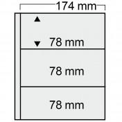 Specjalny 3-częściowy arkusz do segregatora Compact (pakowane po 10 sztuk)