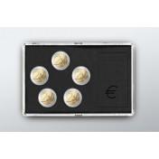 Akrylowe etui na monety Euro